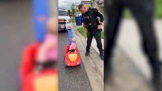 Officer pulls over 10-month-old daughter