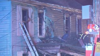 Family hospitalized after flames rip through home