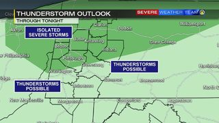 Heat, humidity move in before isolated storms Wednesday
