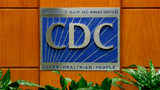 ATLANTA, GA: A podium with the logo for the Centers for Disease Control and Prevention at the Tom Harkin Global Communications Center. (Photo by Kevin C. Cox/Getty Images)
