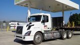 A Beemac truck refuels at its compressed natural gas station in Ambridge, which it opened five years ago.