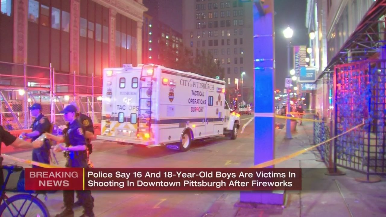 DOWNTOWN PITTSBURGH SHOOTING: 2 teenagers shot as crowds