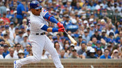 CHICAGO, ILLINOIS - JULY 13: Willson Contreras #40 of the Chicago Cubs hits a three run home run in the first inning against the Pittsburgh Pirates at Wrigley Field on July 13, 2019 in Chicago, Illinois. (Photo by Quinn Harris/Getty Images)