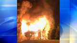 Family's home destroyed by fire in Hampton