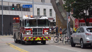 PHOTOS: Building partially collapses in downtown Pittsburgh