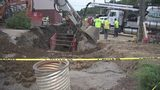 Crews worked through the night to restore water, fix sinkhole off of McKnight Road