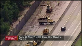 One lane of Route 28 closing to determine what