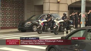 Procession held for Pittsburgh police officer Calvin Hall