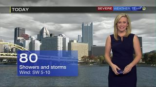 Showers, storms at times Wednesday (7/17/19)