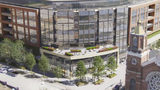 Updated rendering for the Brickworks project in the Strip District, after developer Rugby Realty Co. Inc. resubmitted plans to the Pittsburgh Planning Commission and gained approval for the project. (RUGBY REALTY CO. INC./Pittsburgh Business Times)