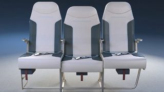New airline seat design could help middle passengers