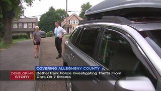 Several vehicles broken into, one stolen in Bethel Park