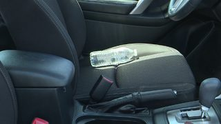 Water bottles left in hot cars can catch fire