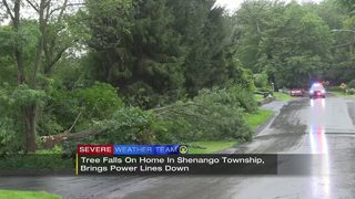 Severe storms sweep across parts of the area Saturday morning