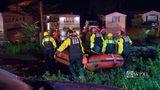 Rescue teams evacuate Plum neighborhood