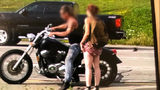 Police have identified a motorcyclist and his passenger who are accused of being part of a road rage incident.