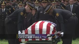 Ofc. Calvin Hall commemorated at emotional funeral ceremony