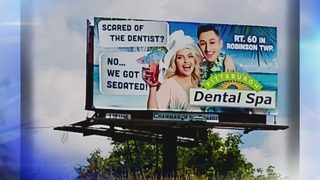 Police investigating theft of billboard advertisement in North Fayette