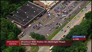 Shootout with police at McKnight Road shopping center