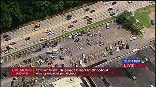 Witness describes shootout with police at Ross Township shopping center