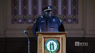"""Amazing Grace"" sung by Officer Michael Gay at Officer Hall funeral"