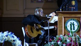 """I Loved You Before"" performed by Curtis Washington, father of Officer Hall"