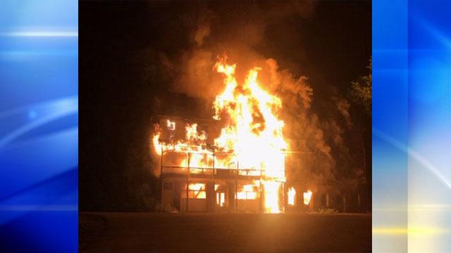 PHOTOS: Fire destroys historic Belvedere Hotel - (1/7)