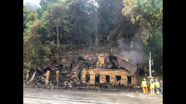 PHOTOS: Fire destroys historic Belvedere Hotel - (5/7)