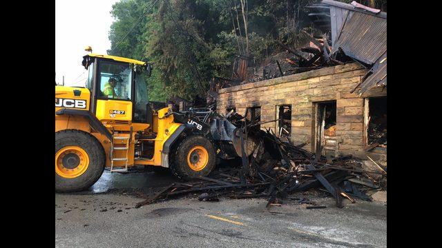 PHOTOS: Fire destroys historic Belvedere Hotel - (7/7)