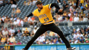 PITTSBURGH, PA - AUGUST 04: Joe Musgrove #59 of the Pittsburgh Pirates delivers a pitch in the first inning during the game against the New York Mets at PNC Park on August 4, 2019 in Pittsburgh, Pennsylvania. (Photo by Justin Berl/Getty Images)