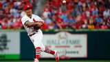 ST LOUIS, MO - AUGUST 09: Kolten Wong #16 of the St. Louis Cardinals throws to first base against the Pittsburgh Pirates in the third inning at Busch Stadium on August 9, 2019 in St Louis, Missouri. (Photo by Dilip Vishwanat/Getty Images)
