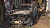 SUV rolls into house, strikes gas line and causes massive fire