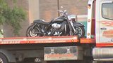 Police seized this motorcycle as evidence in what was a deadly shooting in Penn Hills.