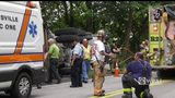 Dump truck rolls over in Murrysville