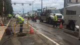 Water main break closes part of busy downtown Pittsburgh street