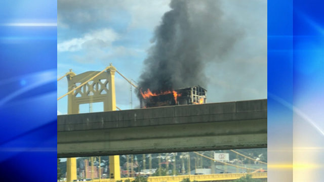 Pittsburgh food truck owner thankful no one was hurt during highway blaze