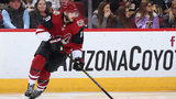 GLENDALE, ARIZONA - DECEMBER 30: Alex Galchenyuk #17 of the Arizona Coyotes skates with the puck during the NHL game against the Vegas Golden Knights at Gila River Arena on December 30, 2018 in Glendale. (Photo by Christian Petersen/Getty Images)
