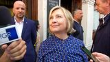 Hillary Clinton visits museum with email exhibition