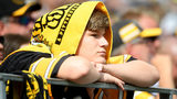 PITTSBURGH, PA - SEPTEMBER 15: A Pittsburgh Steelers fan looks on in the second half during the game against the Seattle Seahawks at Heinz Field on September 15, 2019 in Pittsburgh, Pennsylvania. (Photo by Justin Berl/Getty Images)