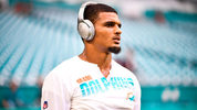 MIAMI, FL - AUGUST 08: Minkah Fitzpatrick #29 of the Miami Dolphins warming up before the preseason game against the Atlanta Falcons at Hard Rock Stadium on August 8, 2019 in Miami, Florida. (Photo by Mark Brown/Getty Images)