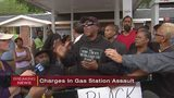 3 men facing charges as protesters continue gathering at gas station following fight video