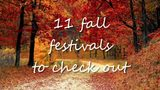 11 Fall festivals to check out