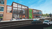 Bakery Square Rendering. The Bakery Square refresh plan calls for demolishing the one-time home of Coffee Tree Roasters, a one-story building, with a new two-story building of about 10,000 square feet.