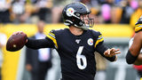 PITTSBURGH, PA - OCTOBER 06: Devlin Hodges #6 of the Pittsburgh Steelers looks to pass during the second half against the Baltimore Ravens at Heinz Field on October 6, 2019 in Pittsburgh, Pennsylvania. (Photo by Joe Sargent/Getty Images)