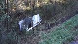 Tree trimming truck rolls down hillside in Beaver County
