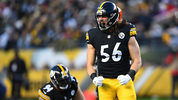 Anthony Chickillo #56 of the Pittsburgh Steelers reacts after a sack in the first quarter during the game against the Cincinnati Bengals at Heinz Field on December 30, 2018 in Pittsburgh, Pennsylvania. (Photo by Joe Sargent/Getty Images)