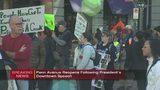 Protesters block Penn Avenue near Convention Center