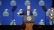 President Donald Trump delivered the keynote address at the Shale Insight 2019 conference at the David L. Lawrence Convention Center.