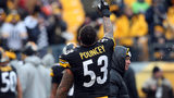 PITTSBURGH, PA - DECEMBER 30: Maurkice Pouncey #53 of the Pittsburgh Steelers warms up before his game against the Cleveland Browns at Heinz Field on December 30, 2012 in Pittsburgh, Pennsylvania. (Photo by Karl Walter/Getty Images)