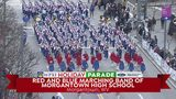 Red and Blue Marching Band of Morgantown High School at the WPXI Holiday Parade Presented by Neighborhood Ford Store